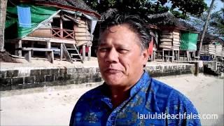 Beachside Houses   Beach Fales Accommodation in Samoa
