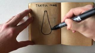 How to Draw a Traffic Cone