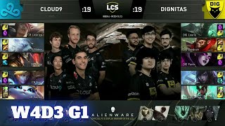 Cloud 9 vs Dignitas | Week 4 Day 3 S10 LCS Summer 2020 | C9 vs DIG W4D3