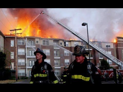 Apartment Complex Fire  St. Louis, Mo