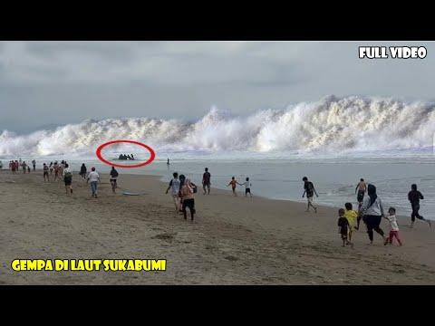 Gempa di Pantai Sukabumi Hari Ini!! Warga Berhamburan Pesisir Dihantam Ombak Besar, Gempa Sukabumi thumbnail