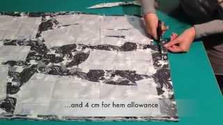 Pattern layout, pinning, marking and cutting out - Marfy pattern 3022
