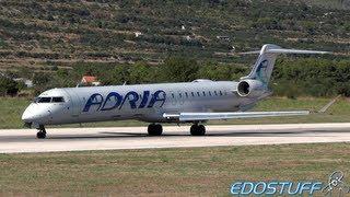 Adria - Canadair CRJ-900 Regional Jet S5-AAO - Takeoff from SPU/LDSP Split airport