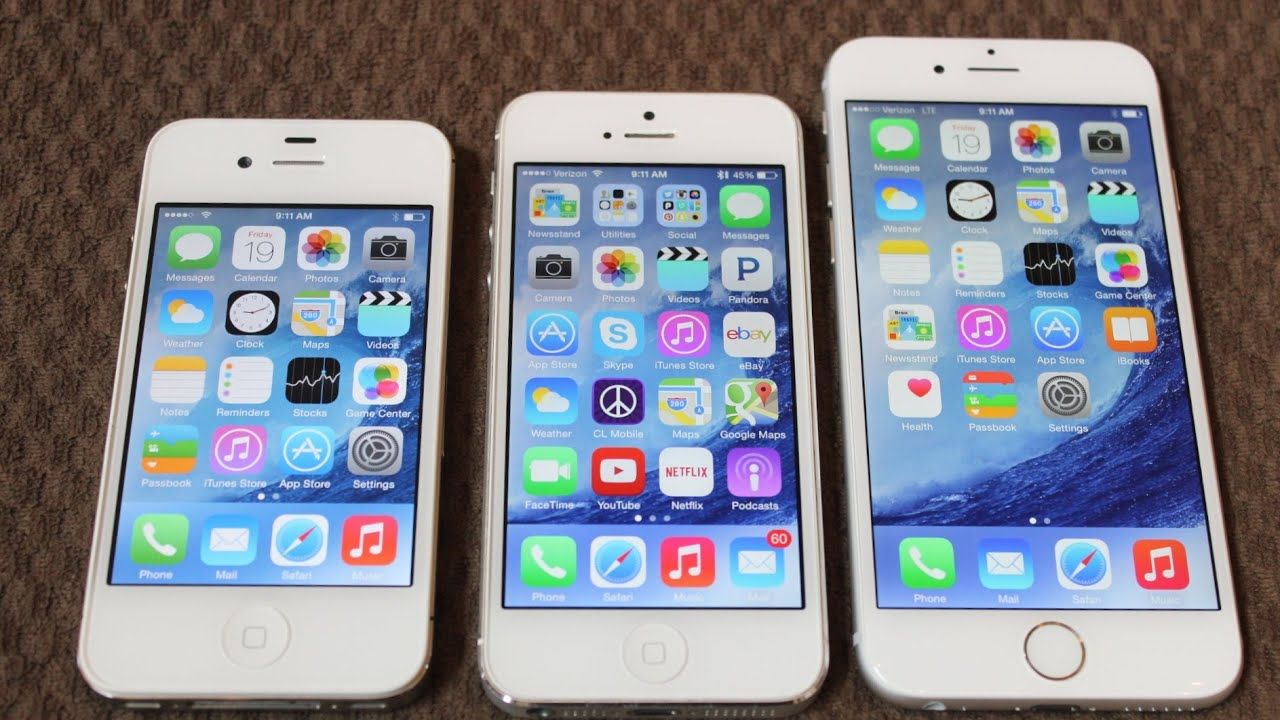 iphone 6 size vs iphone 4s and iphone 5 plus new exterior