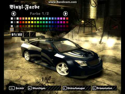Need for Speed Most Wanted Tuning-Tutorial: Chevrolet Cobalt SS