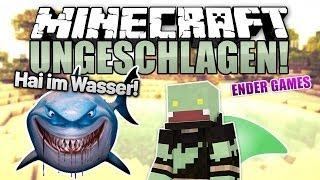 Hai im Wasser Challenge! - Minecraft UNGESCHLAGEN #63 Ender Games | ungespielt