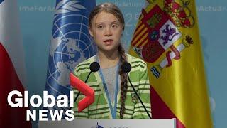 Greta Thunberg denounces world leaders'