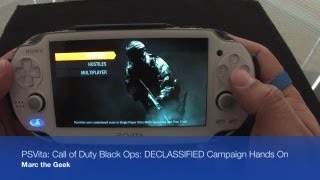 PSVita - Call of Duty Black Ops DECLASSIFIED Campaign Hands On