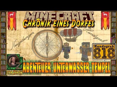Minecraft #818-Chronik eines Dorfes-Abenteuer Unterwasser Tempel[HD+Deutsch]