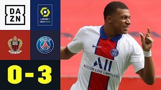 Ohne Platzverweis! Kylian Mbappe führt Paris zum Sieg: Nizza - PSG 0:3 | Ligue 1 | DAZN Highlights