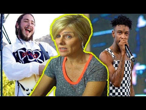 Mom REACTS to Post Malone - Rockstar ft. 21 Savage + LIVE VERSION!