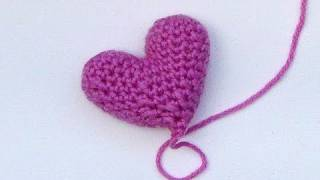 Häkeln Lernen Einfaches Häkelherz Gehäkeltes Herz