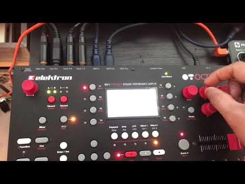 iPad midi USB host / Midibridge app Octatrack + Launch Control XL