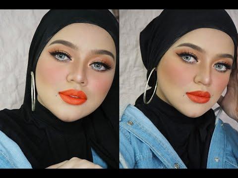 mua-bellaz-:-makeup-smokey-orange-warna2-sunset,-korang-ada-tak-lipstik-kaler-limau-mandarin-ni?