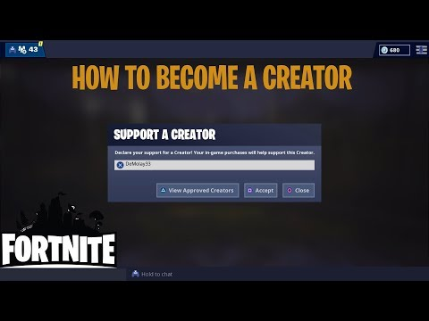 HOW TO BECOME AN EPIC CREATOR IN FORTNITE