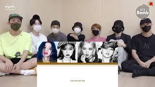 BTS react BLACKPINK - Crazy Over You (Lyric)