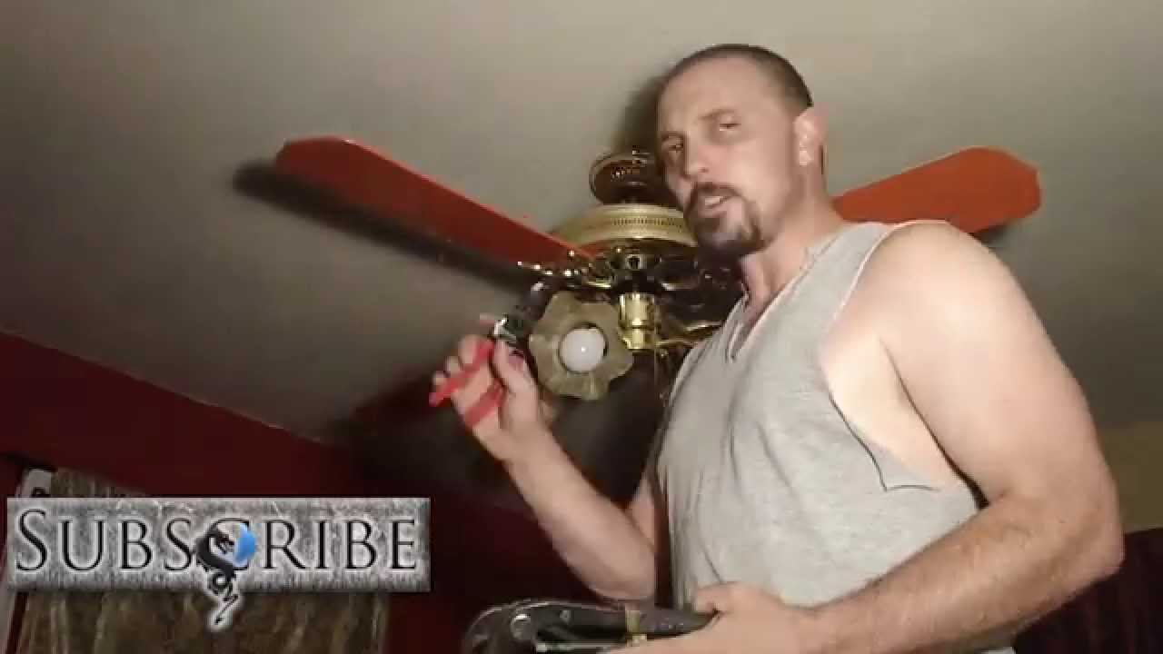 DIY walk-through of ceiling fan replacement - YouTube