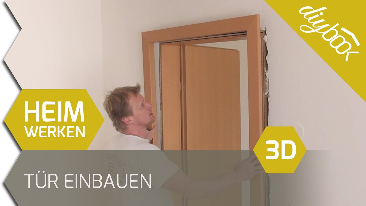 t r einbauen zarge einbauen 3d youtube. Black Bedroom Furniture Sets. Home Design Ideas