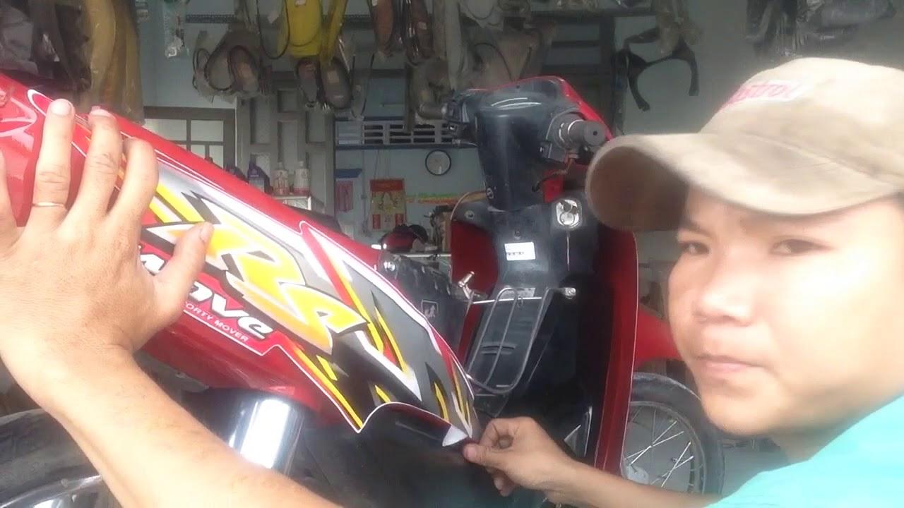 Dán tem xe máy || xe wave RS