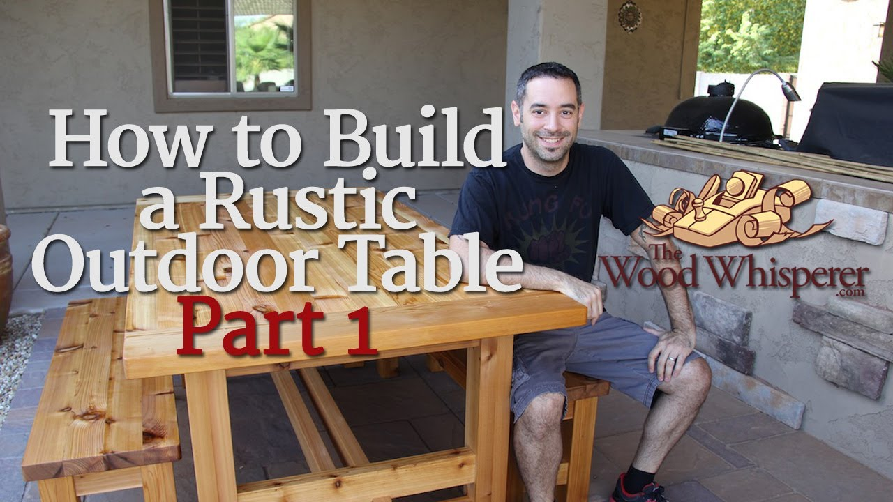 outdoor table and chairs wood ebay loose chair covers 208 how to build a rustic part 1 of 2 youtube