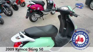 2009 Kymco Sting 50 green used moped