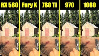 Far Cry 5 1060 Vs 970 Vs 780 TI Vs AMD RX 580 Vs AMD Fury X Frame Rate Comparison