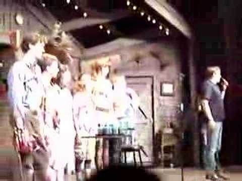 Bruce Campbell and the cast of Evil Dead: The Musical
