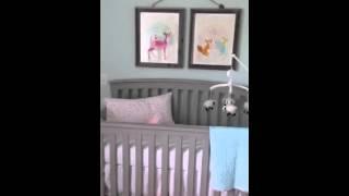 A Sneak Peek Of Baby Girl's Woodland Creature Nursery.