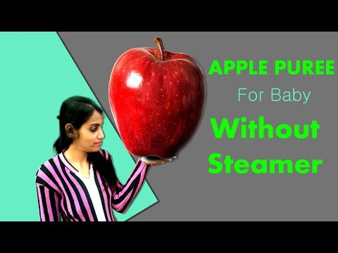 how-to-steam-apple-for-baby-|-apple-puree-|-without-steamer
