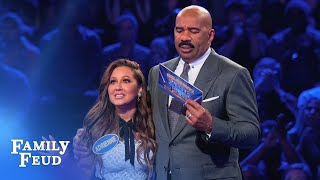 Adrienne Houghton DESTROYS Fast Money! | Celebrity Family Feud