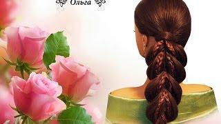 Коса с помощью резинок braid using elastic bands Kapralova Olga