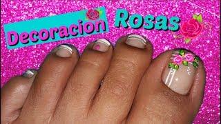 Decoracion De Unas Pies Rosas Pink Feet Nail Decoration By Unas Turqueza