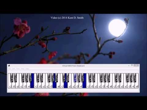 Learning Piano Improv  - Jamming on Moondance by Van Morrison
