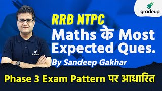 RRB NTPC Maths Most Expected Questions   Sandeep Gakhar   Gradeup