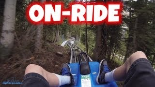 Mountain Coaster Summer No Brakes On-ride (HD POV) Snowbird Resort
