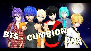 (MMD CUMBIA) BTS (방탄소년단) - DNA (PARODIA COVER)