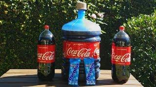 Experimento: Garrafão de  Coca-Cola com Mentos!