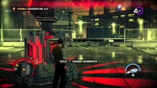 "Saints Row IV -  Learn The Rules: Destroy Hotspot ""An Anus"" Warden Intro & Battle, Disable Generator"