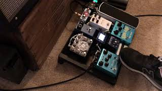 a handful of sounds out of my pedalboard in a minute