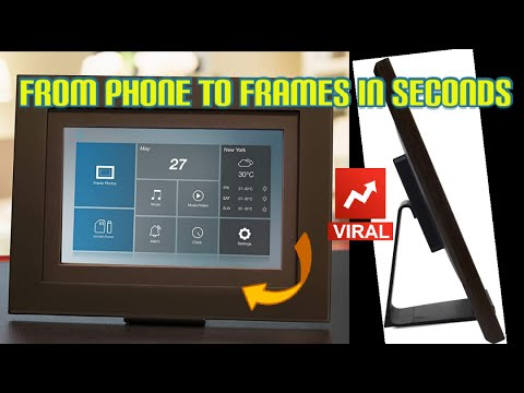 Photoshare Friends & Family Smart Cloud Frame | Digital Photo Frame, WiFi, Holds Over 5,000 Photos