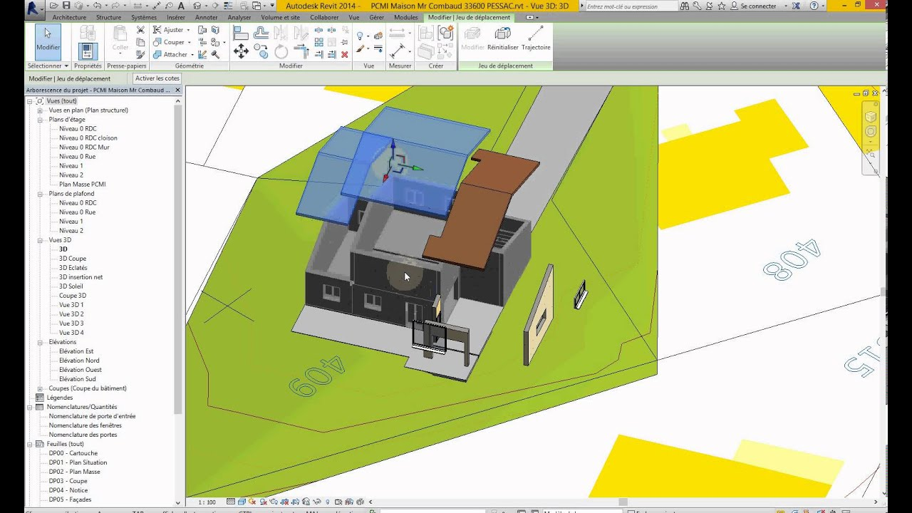 Finest autodesk revit tuto fr d eclats dans vue d with for Creation maison 3d