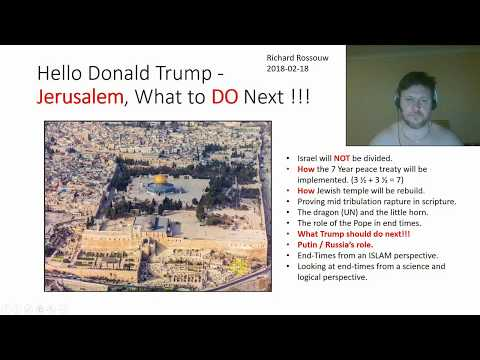 Hello Donald Trump Jerusalem what to DO next Part1