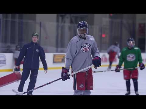 Willie O'Ree's Inspiration On AAA Blue Jacket Ayo Adeniye