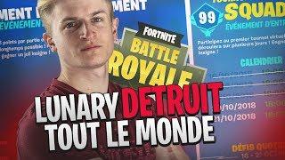 LUNARY DÉTRUIT TOUT LE MONDE EN MODE TOURNOI SQUAD ! FORTNITE FR