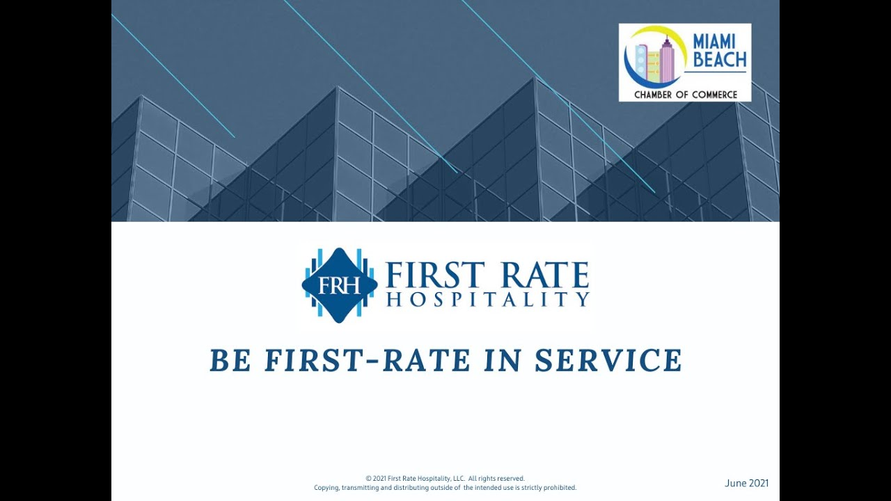 Be First Rate In Service Webinar