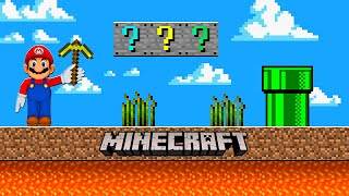 This is REAL MAŔIO GAME in Minecraft ! How to PLAY as Mario ! GAMEPLAY Movie