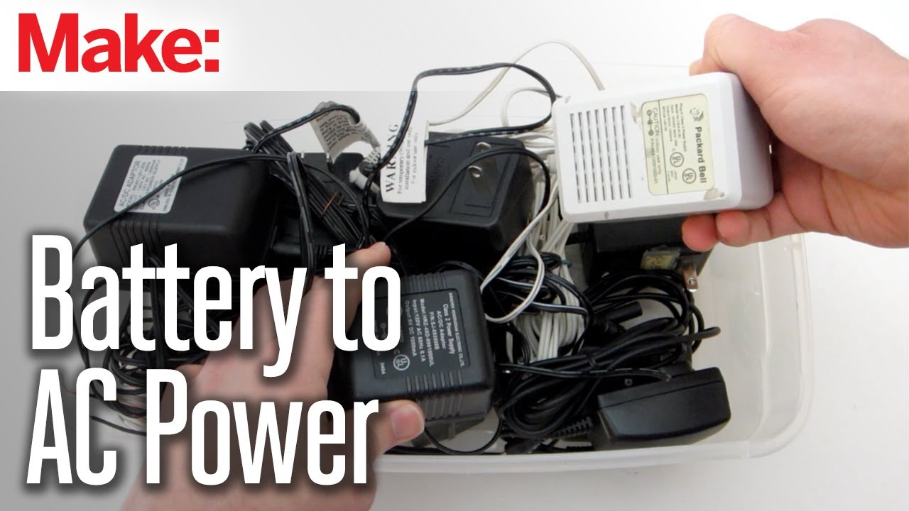 Diy Hacks Amp How To S Convert A Battery Powered Device To Ac Power Youtube