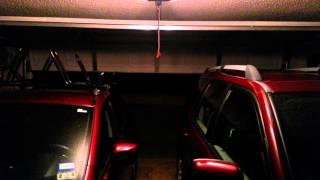 chamberlain 1 25 hp garage door opener in action