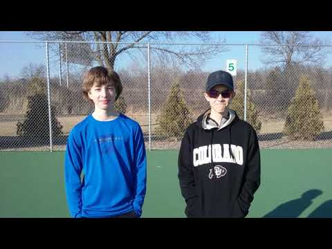 Freshman Jacob Hanson and Colin Chapman Boys Tennis