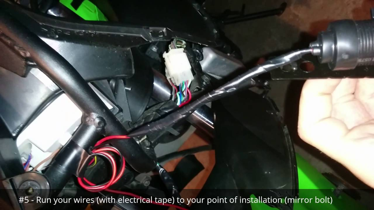 Ninja 250r Usb Phone Charger Installed On Headlight Circuit Youtube